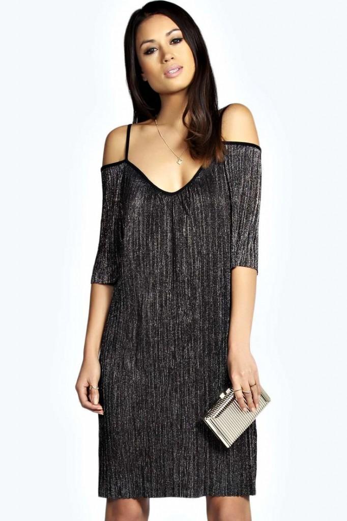 Hayley Pleat Cold Shoulder Dress £20 click to visit Boohoo