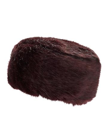 Womens Luxe Faux Fur Hat, Wine Was £39.95 Now £19.95 click to visit Joules