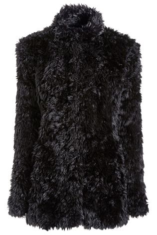 Black Soft Faux Fur Jacket £75 click to visit Next