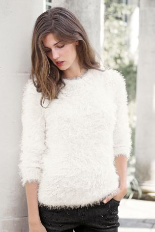 Faux Fur Sweater £32 click to visit Next