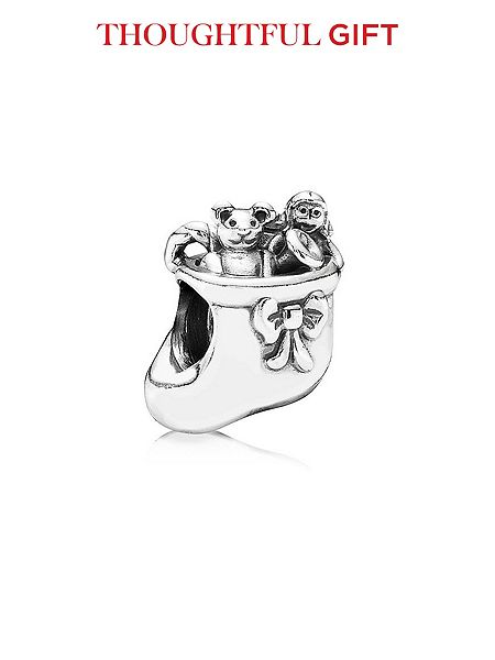 Pandora Christmas Stocking Charm £25 click to visit House of Fraser