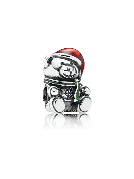 Pandora Christmas teddy bear charm £35 click to visit House of Fraser