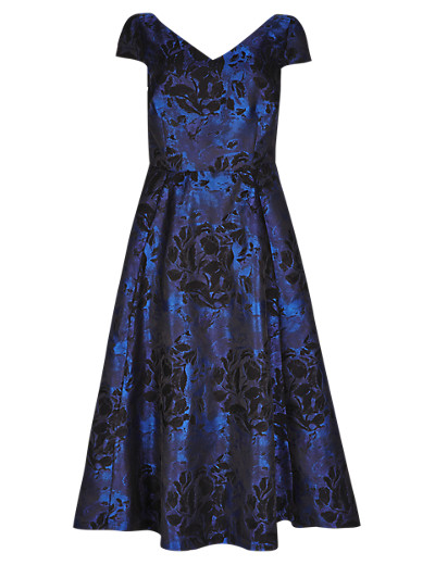 PER UNA New Floral Jacquard Fit & Flare Dress T623768K     £79.00 click to visit Marks and Spencer