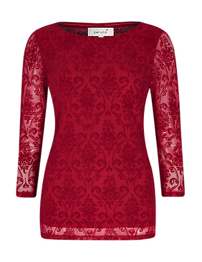 PER UNA New 3/4 Sleeve Devore Top     £29.50  Click to visit Marks and Spencer