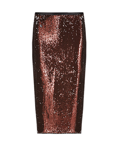 LIMITED EDITION New Sequin Column Skirt T692114H     £49.50 click to visit Marks and Spencer