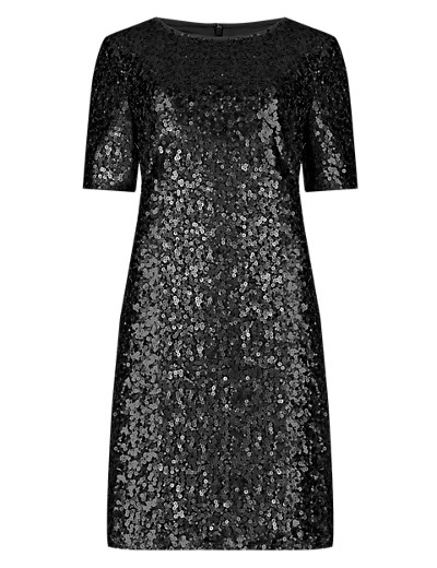 M&S COLLECTION New All-Over Sequin Embellished Tunic Dress T424073A     £79.00 click to visit Marks and Spencer