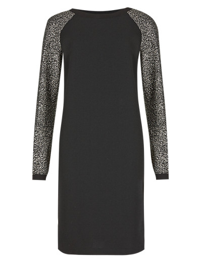 M&S COLLECTION New Sparkle Sleeve Sweater Tunic Dress in Shorter & Longer Lengths T427031     £45.00 click to visit Marks and Spencer