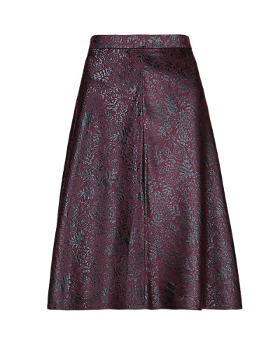 M&S COLLECTION New Jacquard A-Line Skirt T574227     £39.50 click to visit Marks and Spencer