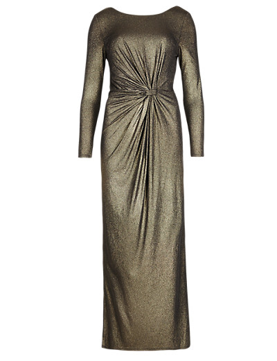 M&S COLLECTION Online only PETITE Metallic Effect Maxi Dress T975056E     £79.00 click to visit Marks and Spencer