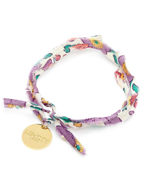 Flowers of Liberty Betsy Liberty Print Disc Charm Bracelet £14.95
