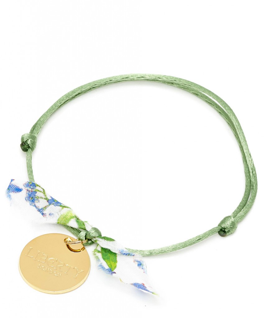 Flowers of Liberty Green Theodora Liberty Print Friendship Bracelet £14.95 click to visit Liberty London