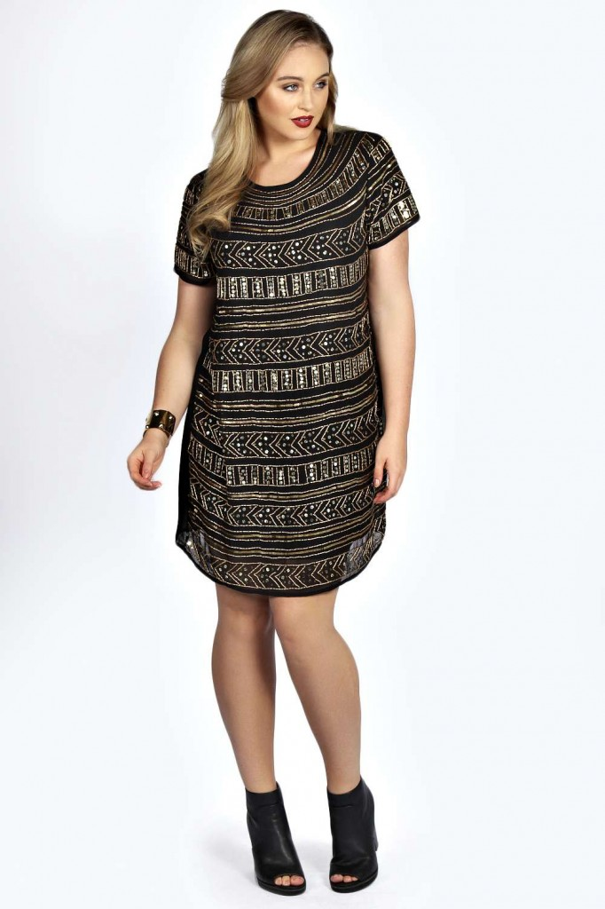 Jemma Embellished Shift Dress £40 click to visit Boohoo