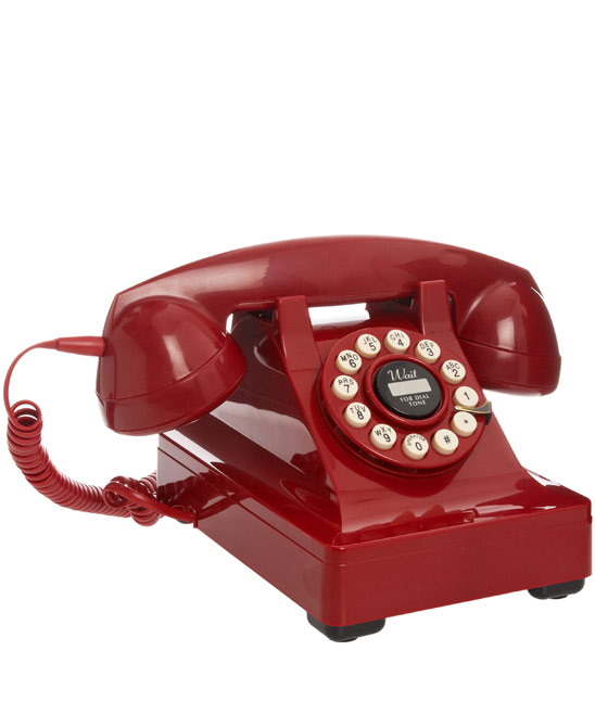 Red Series 302 Telephone £55 click to visit Liberty London