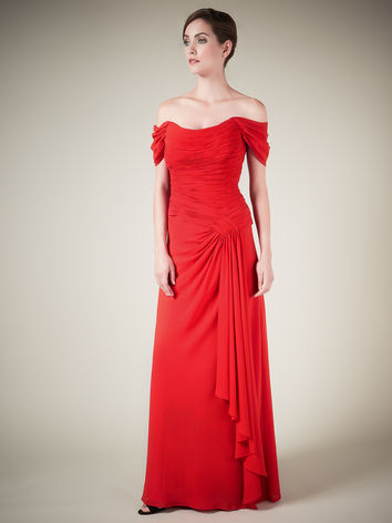 Red Waterfall Gown £299.00 click to visit Jacques Vert
