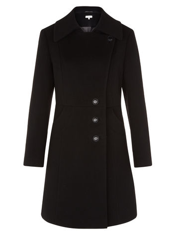 Black Asymmetric Coat now  £129.00 click to visit Kaliko