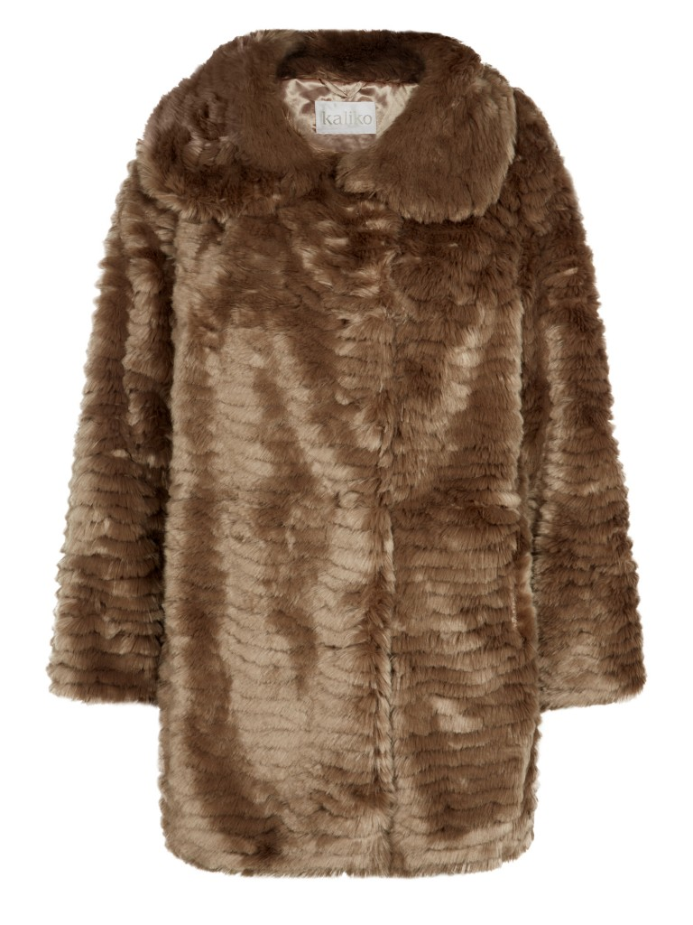 Neutral Fur Coat  now £79 click to visit Kaliko