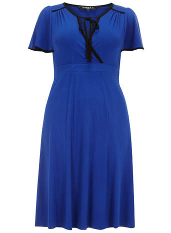 Scarlett & Jo Blue Jersey Knee Length Dress     Was £45.00     Now £30.00 click to visit Evans