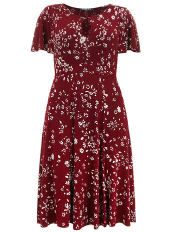 Scarlett & Jo Red Floral Jersey Dress     Price: £45.00 click to visit Evans