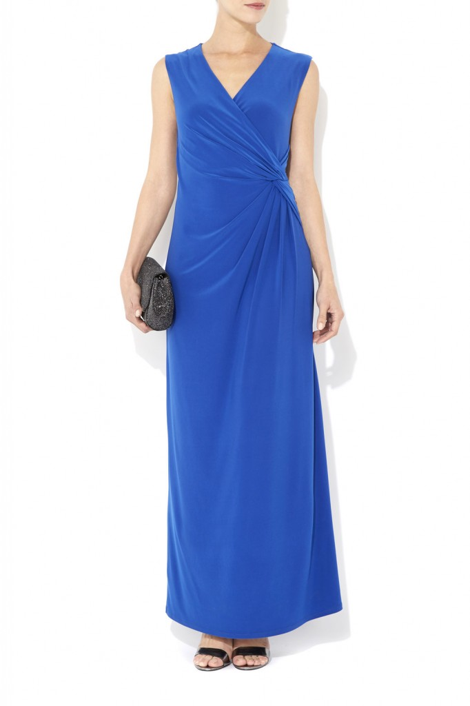 Petite Blue Ruched Maxi Dress Was £50.00 Now £20.00 click to visit Wallis