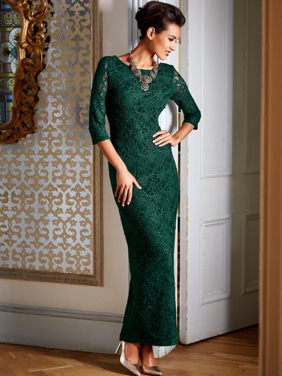Glitter lace maxi dress now £30 click to visit M&Co
