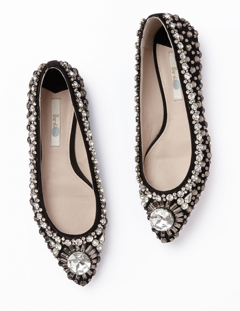 Jewelled Pump AR642 Was £129.00 Now £77.40 click to visit Boden