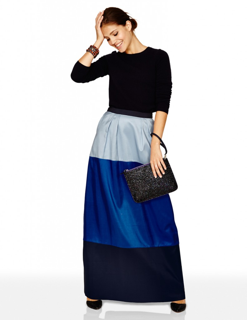 Silk Colourblock Maxi Skirt BR036 Was £199.00 Now £119.40  click to visit Boden