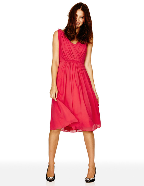 Silk Plaza Dress BR037 Was £299.00 Now £179.40 click to visit Boden