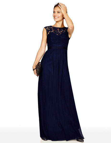 Silk & Lace Maxi Dress BR038 Was £299.00 Now £179.40  click to visit Boden