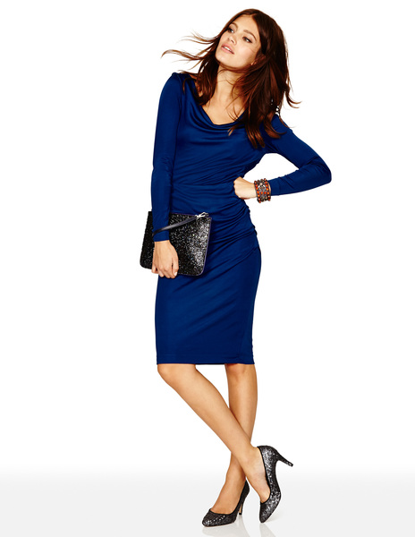Drapey Jersey Dress BR043 Was £129.00 Now £77.40 click to visit Boden