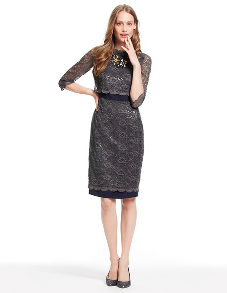 Luxurious Lace Dress WH712 Was £149.00 Now £89.40 click to visit Boden