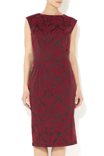 Red Printed Structured Dress     Was £45.00     Now £33.75 click to visit Wallis