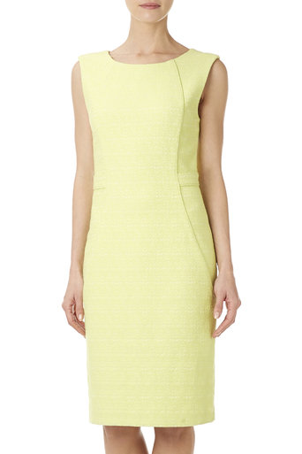 Lime Fitted Jacquard Dress Was £65.00 Now £52.00 click to visit Wallis