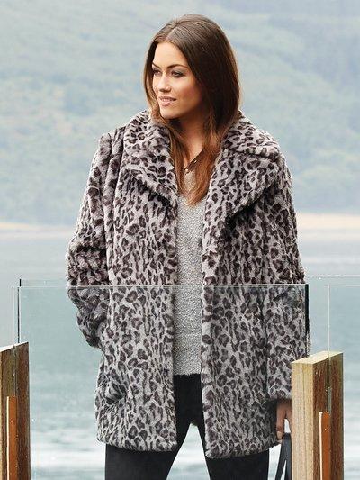 Plus faux fur animal print coat now £44 click to visit M&Co