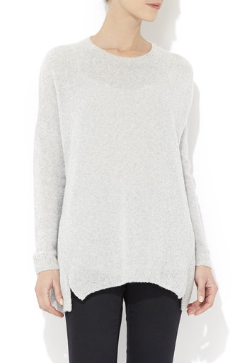 Grey Soft Knitted Jumper Was £33.00 Now £26.40 click to visit Wallis