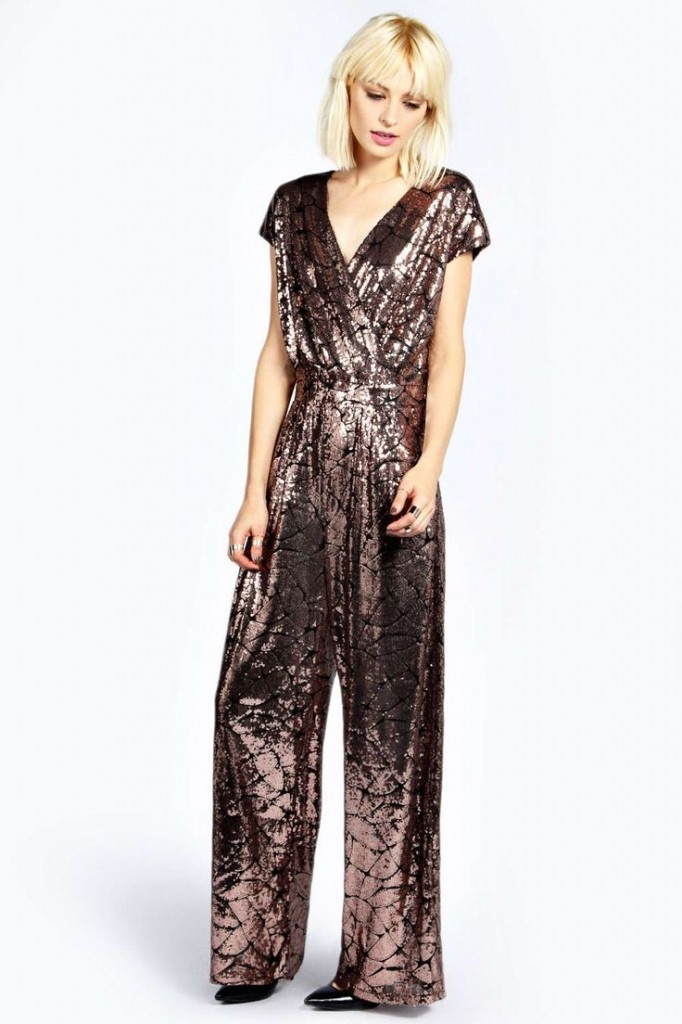 Boutique Anna All Over Sequin Wrap Jumpsuit Product code: azz22368 £30.00 click to visit Boohoo