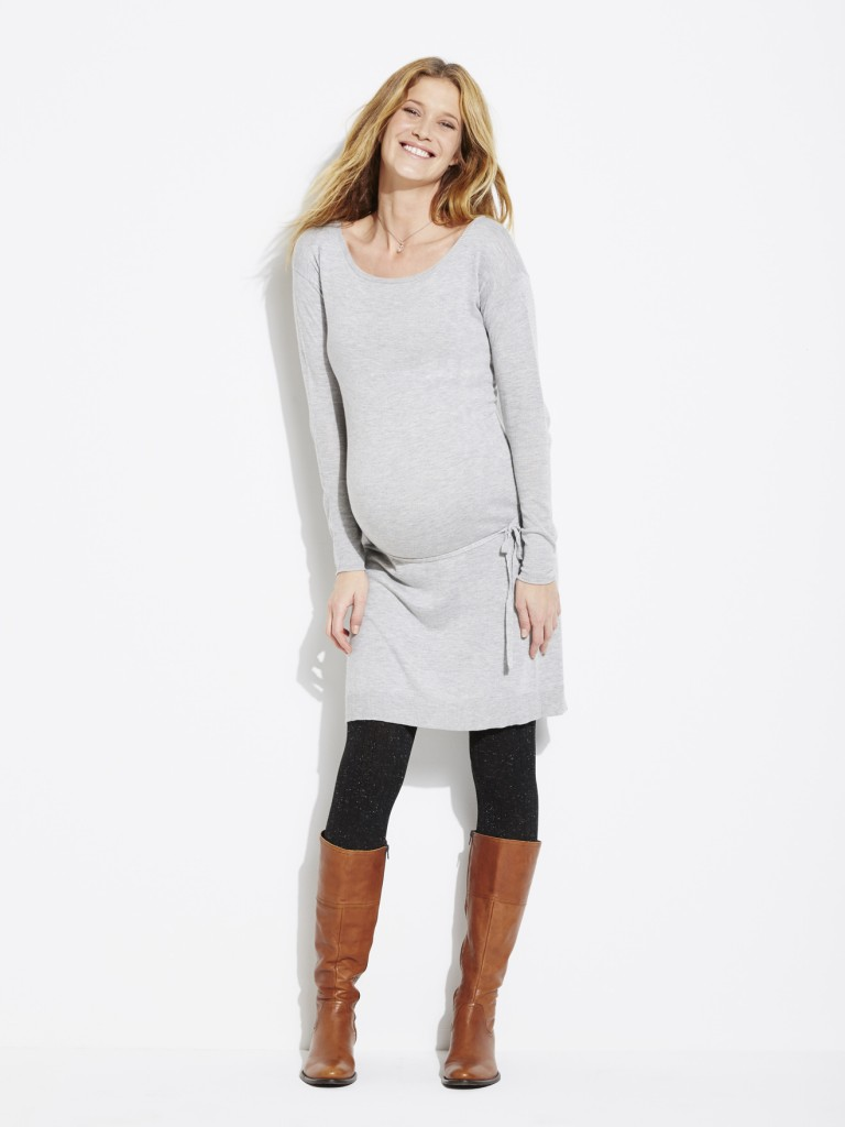 Knitted Maternity Dress now £27.30 click to visit Vertbaudet