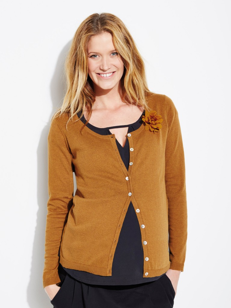 Jersey Maternity Cardigan with Removable Brooch £29 click to visit Vertbaudet