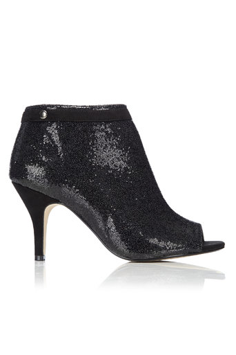 Black Peep Toe Shoe Boot     Was £39.50     Now £27.65 click to visit Wallis