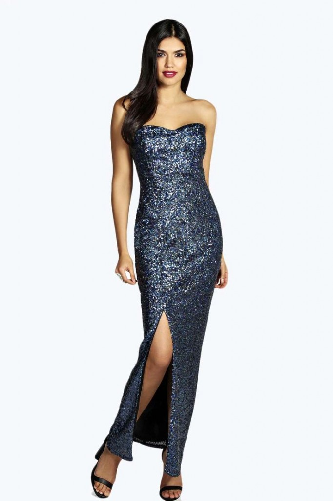 Hayden Bandeau Sequin Maxi Dress Product code: azz20125 £35.00 click to visit Boohoo