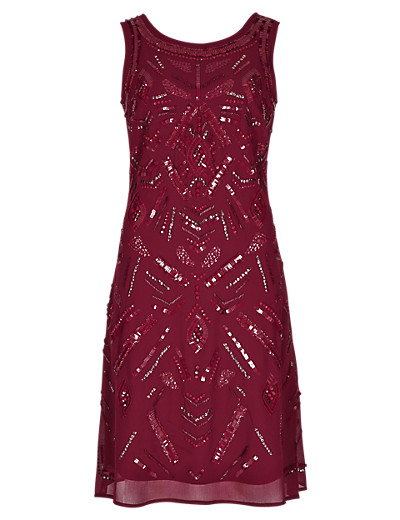 PER UNA Speziale Hand Embellished Fit & Flare Dress T626605K     £89.00 click to visit M&S