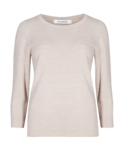 CLASSIC Cashmilon™ Bubble Striped Knitted Top T588731     £11.00 – £16.00 click to visit M&S