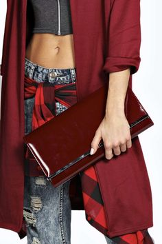 Jasmine Patent Clutch Bag £12 click to visit Boohoo
