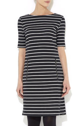 Petite Black Stripe Dress     Was £40.00     Now £28.00 click to visit Wallis