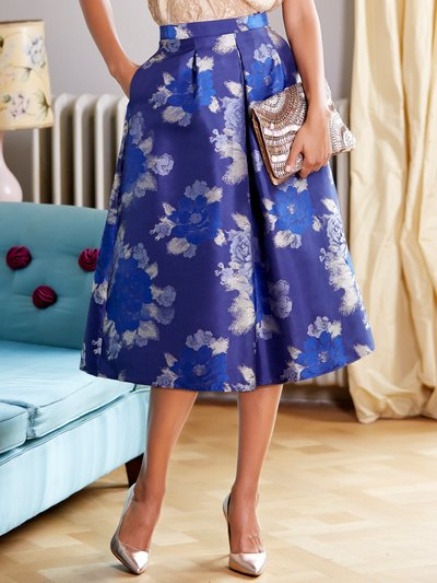 Floral print prom skirt Details http://www.mandco.com/floral-print-prom-skirt-blue/117025201000008.html Product Number: 1170252 Colour: BLUE As seen in S magazine £22.00 Was £45.00 click to visit M&Co
