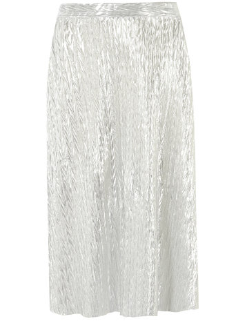 Silver Foil Midi Skirt     Was £26.00     Now £15.00 click to visit Dorothy Perkins