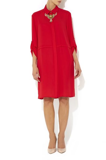 Plain Red Shirt Dress     Was £65.00     Now £30.00 click to visit Wallis