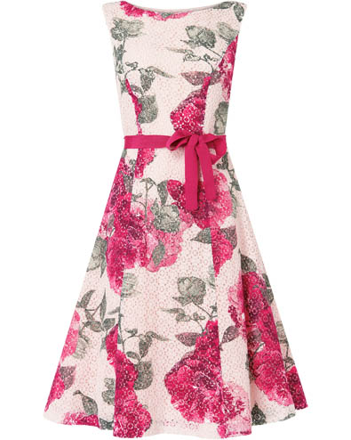 Cherie Printed Lace Dress £150.00 click to visit Phase Eight