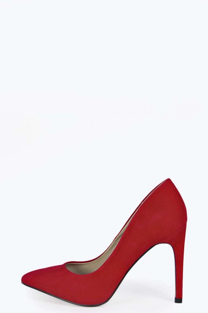 Holly Suedette Concealed Single Platform Pointed Court £22 click to visit Boohoo