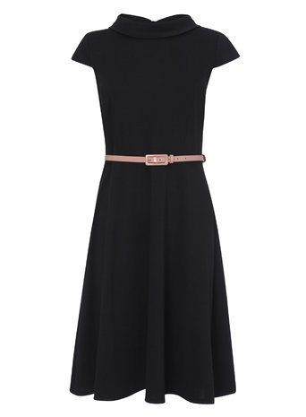 Black and PInk Belted Bardot Fit and Flare Dress     Price: £22.00 click to visit BHS