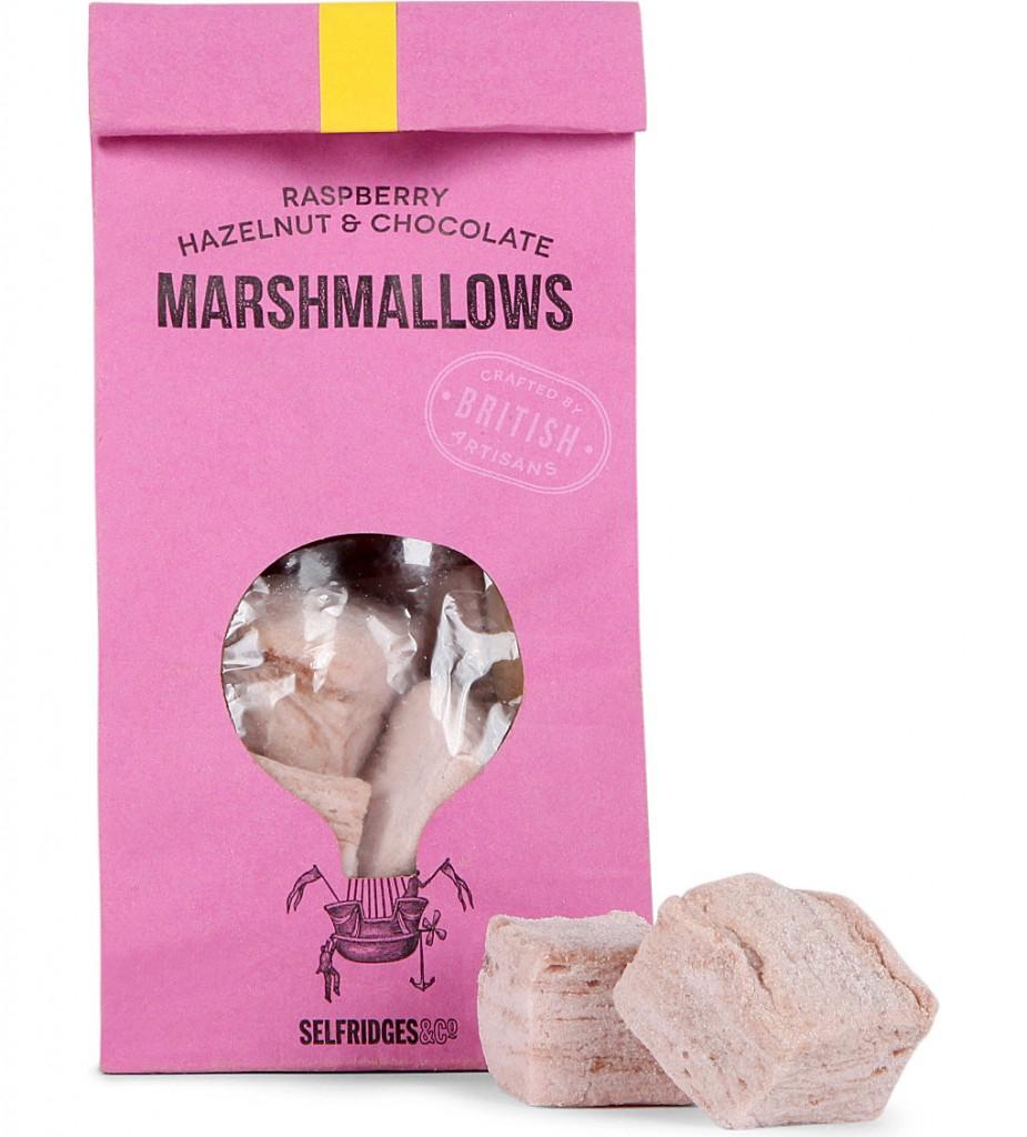 SELFRIDGES SELECTION Raspberry Hazelnut & Chocolate marshmallow     £6.99 click to visit Selfridges